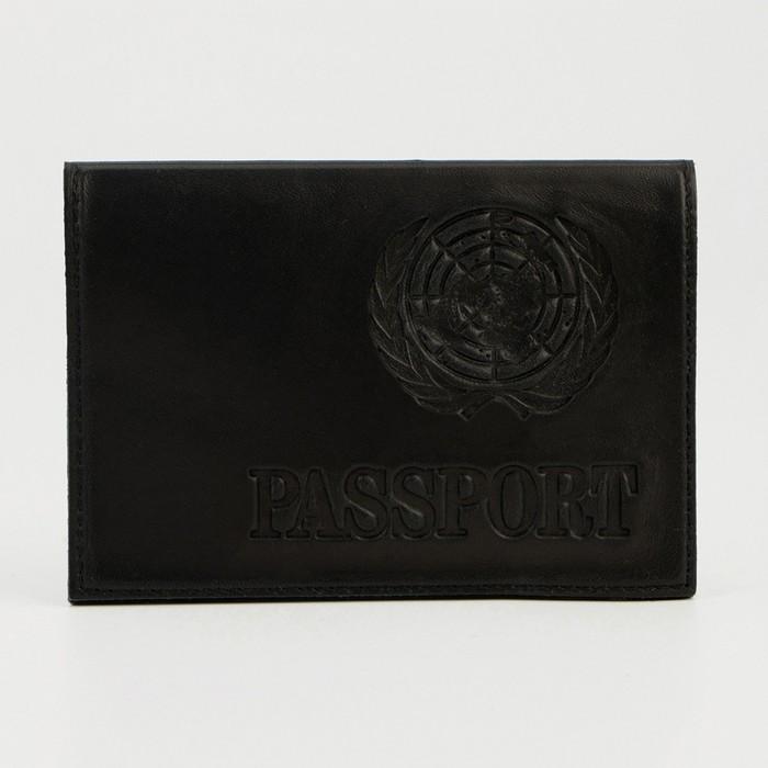 Обложка для паспорта, латинские буквы, синяя