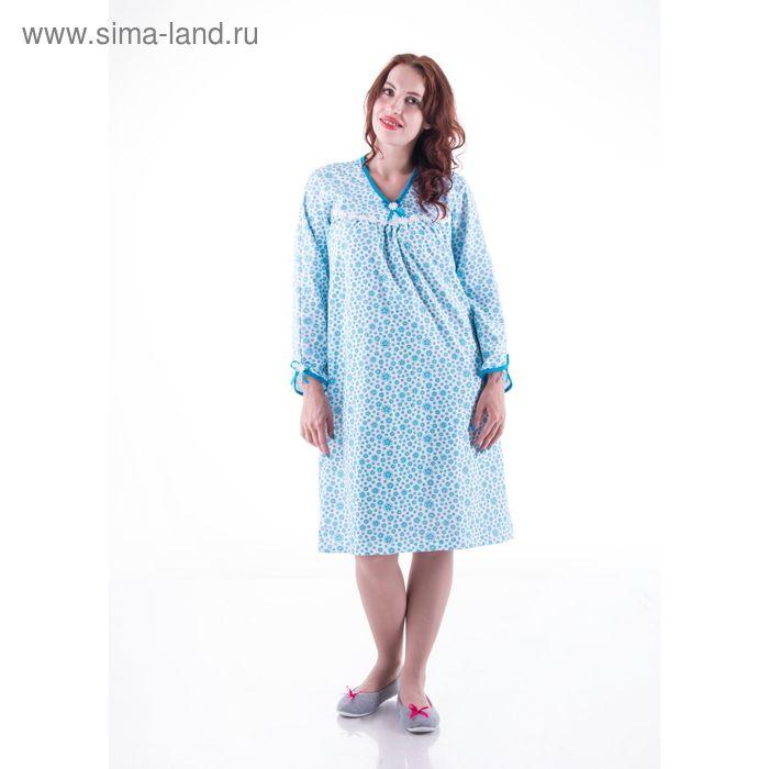 Сорочка женская с длинным рукавом сн218 МИКС, р-р 56 футер