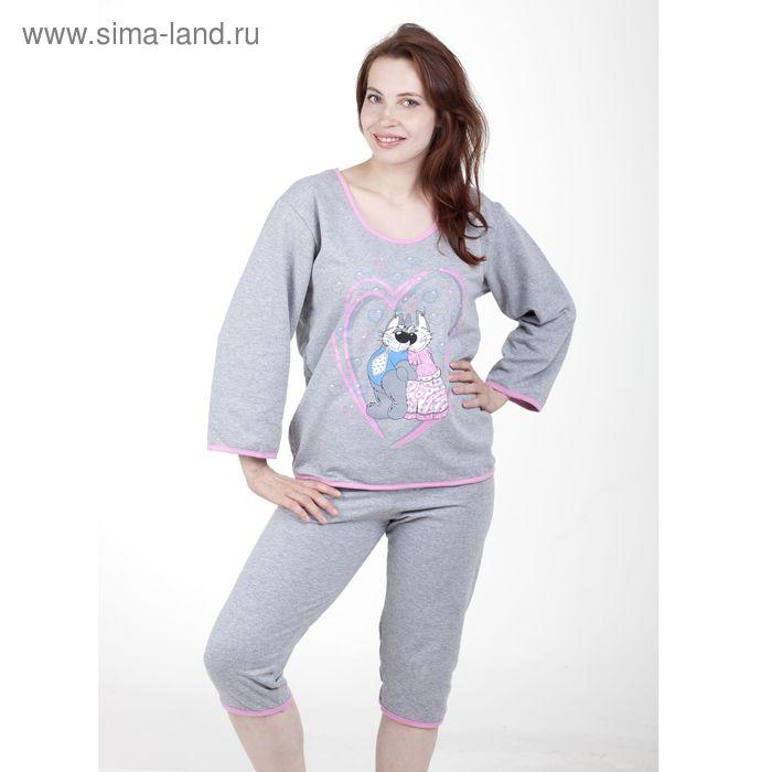 Пижама женская (фуфайка, бриджи) п68 МИКС, р-р 58 футер