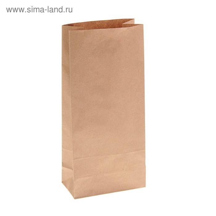 Пакет крафт бумажный фасовочный, 13 х 7 х 28,5 см