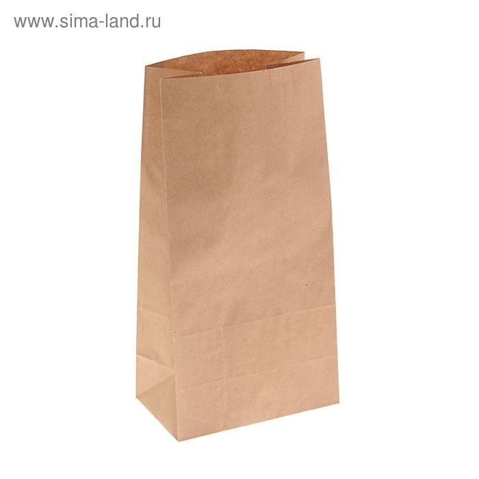 Пакет крафт бумажный фасовочный, 16 х 9,5 х 32 см