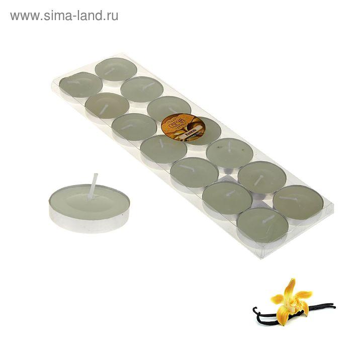 Свечи восковые в гильзе (набор 14 шт.), аромат ваниль