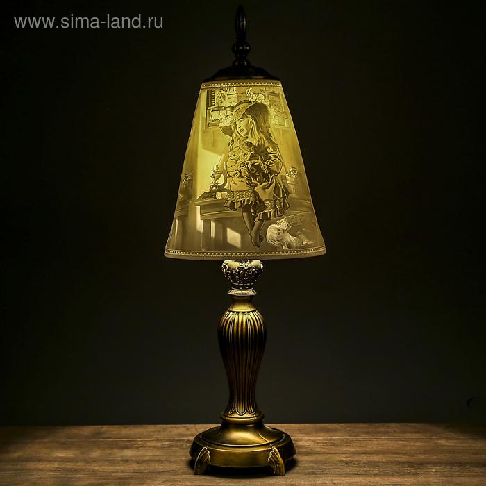 "Лампа настольная ""Пастушок"", керамический абажур"