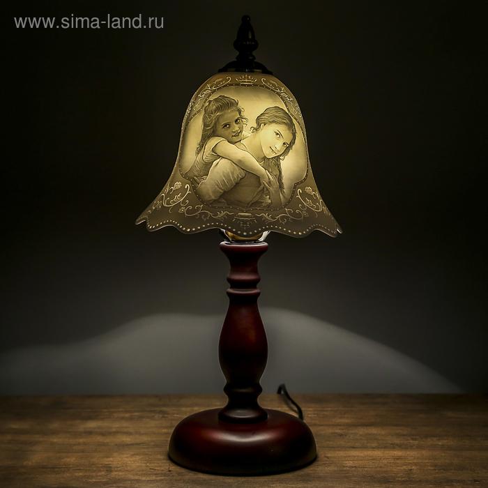 "Лампа настольная керамический абажур ""Сёстры"""