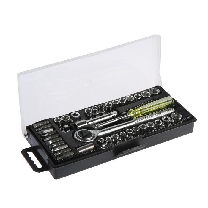 Набор инструмента TUNDRA basic, универсальный в кейсе 40 предметов
