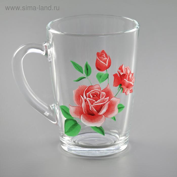 """Кружка 300 мл """"Розовая роза"""", в подарочной упаковке"""