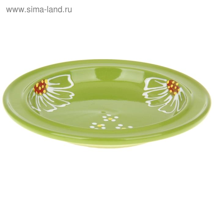 """Тарелка d=20 см """"Орнамент"""" , цвет зеленый"""