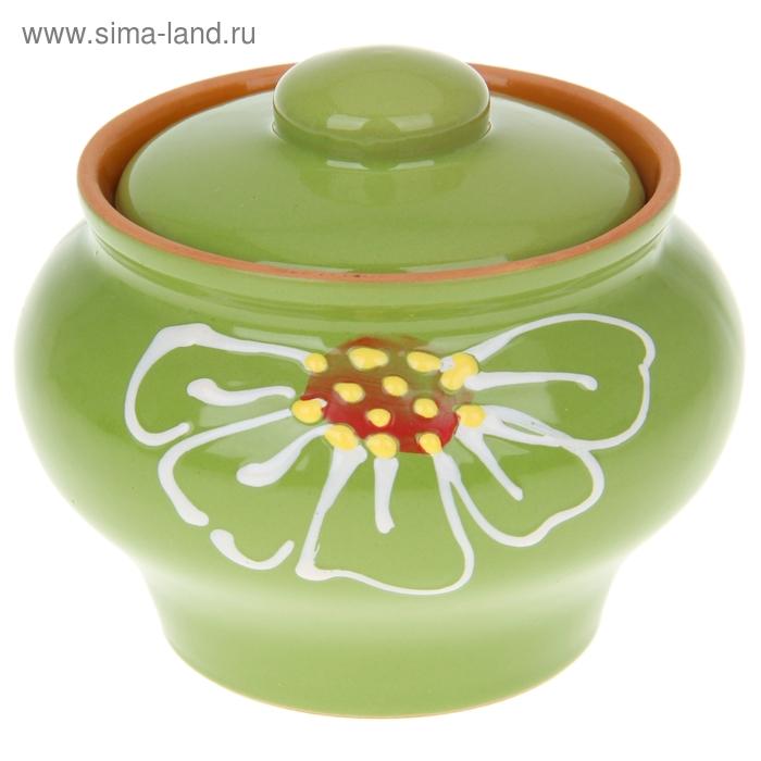 """Горшочек 0,33 л """"Псковский"""", цвет зеленый"""