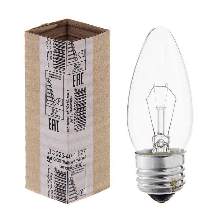 Лампа накаливания ДС, Е27, 230 В, 40 Вт