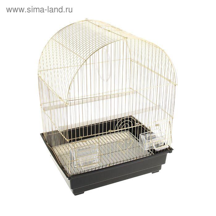 "Клетка для птиц, 35 х 28 х 43 см, ""золото""крыша-купол"
