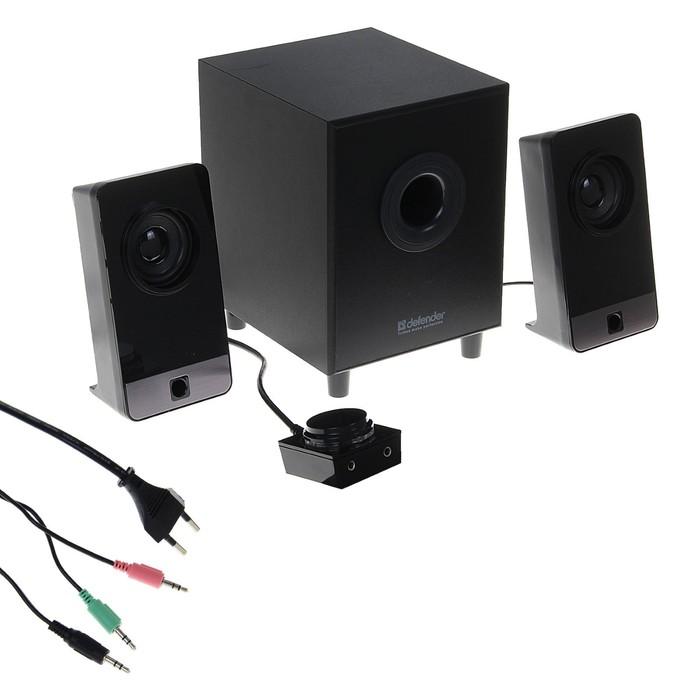 Акустическая система 2.1 Defender I-Wave S16 16 Вт, деревянный корпус, 220В