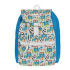 """Рюкзак молодёжный на стяжке шнурком """"Совы"""", 1 отдел, 1 наружный карман, голубой"""