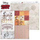 "Бумага для скрапбукинга ""Old's cool: Винтажный Микки"", Микки Маус и друзья, 29.5 х 29.5 см, 160 г/м²"