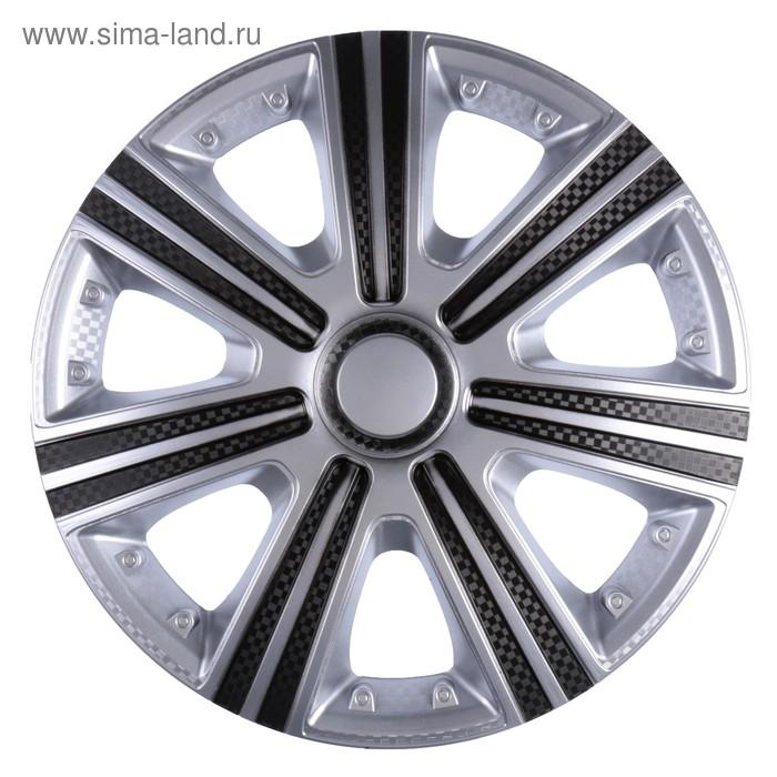 Колпаки колесные R14 DTM Super Silver, набор 4 шт.
