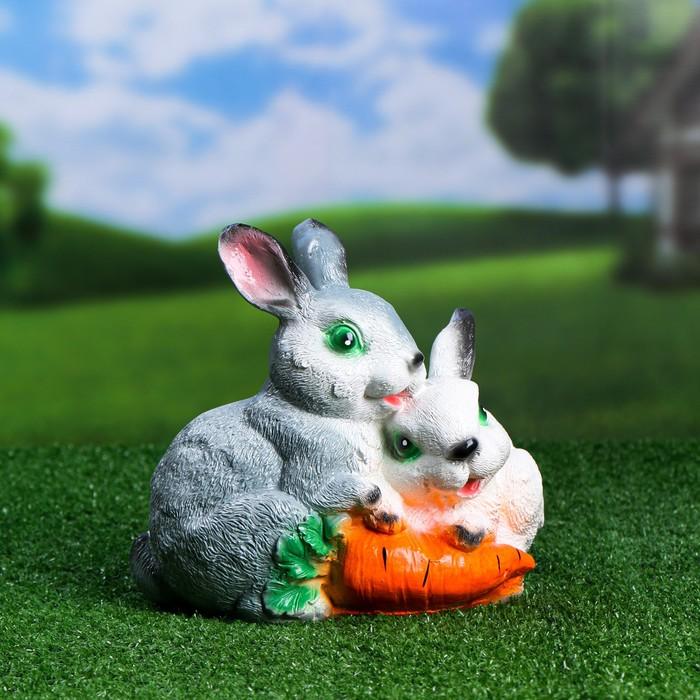 """Копилка """"Два зайца с морковкой"""""""