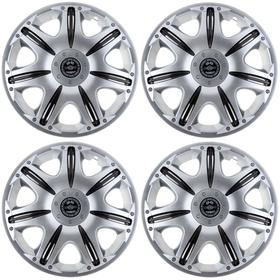 """Колпаки колесные R15 """"Опус"""" Super Silver, набор 4 шт."""