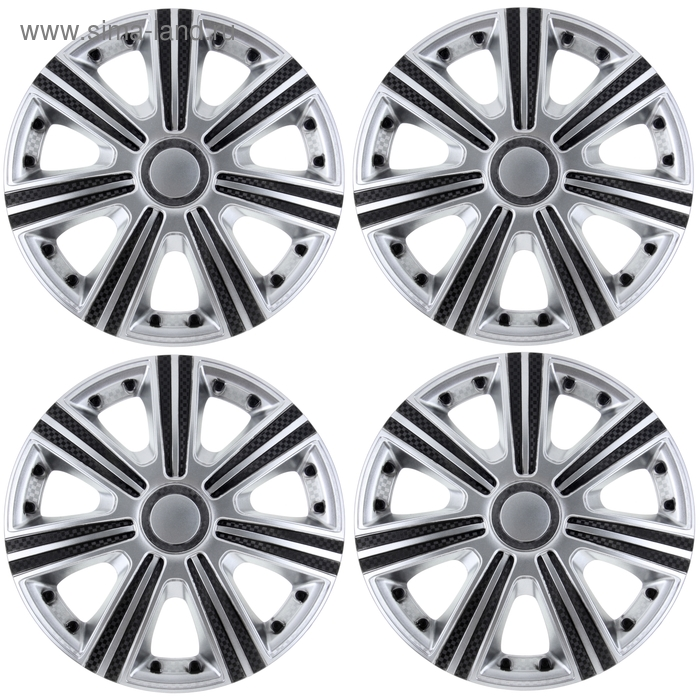 Колпаки колесные R13 DТМ Super Silver, набор 4 шт.