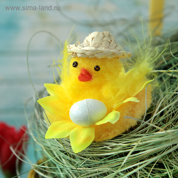 """Сувенир """"Цыплёнок в шляпке с яйцом"""""""