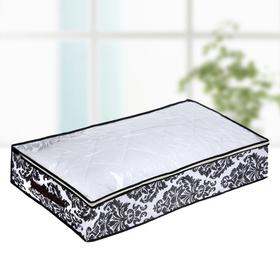 """Кофр для хранения вещей, 80х45х15 см """"Вензель"""", цвет чёрно-белый"""