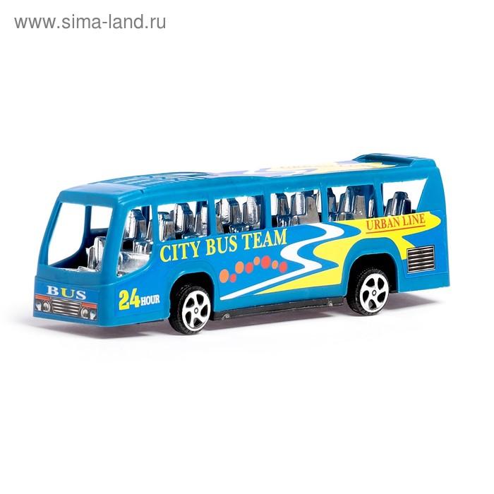 """Автобус инерционный """"Городская экскурсия"""", цвета МИКС"""