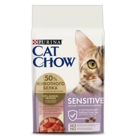 Сухой корм CAT CHOW для кошек с чувствительным пищеварением, 1.5 кг