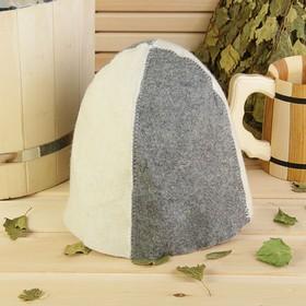Банная шапка «Классическая», комбинированная