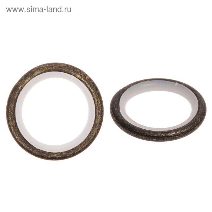 Кольцо для карниза, d=16мм, цвет коричневое золото