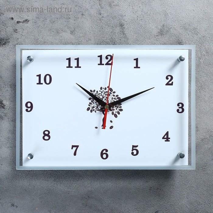 """Часы настенные прямоугольные """"Стильные"""" микс  25х35см"""