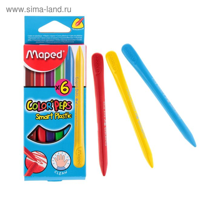 Мелки восковые 6 цветов Maped Color'Peps 862010