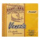 Салфетки Venezia декоративные однослойные, насыщенных  тонов, желтый, 75 шт.