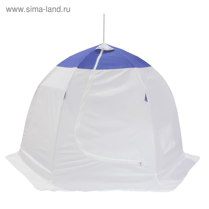 Палатка зимняя 2 местная, цвет бело-синий