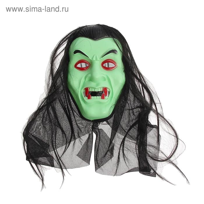 """Карнавальная маска """"Вампир"""" с волосами"""
