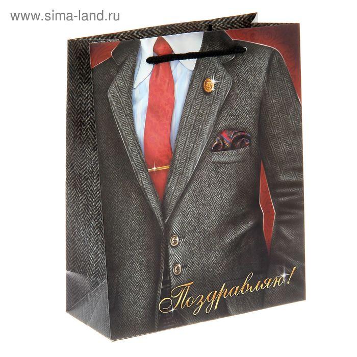 """Пакет ламинат вертикальный """"Костюмный"""", MS 18 х 23 x 8 см"""