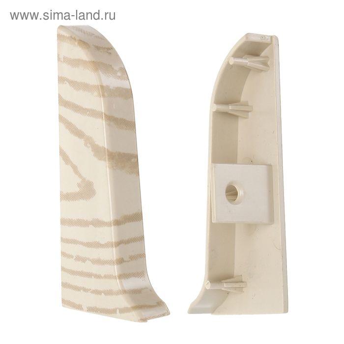 Торец для плинтуса (D) левый текстура (564 Дуб снежный)
