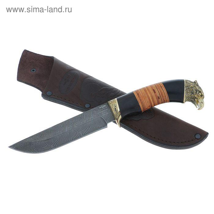 """Нож """"Лесник"""" (3874)д, рукоять-венге, береста, дамасская сталь"""