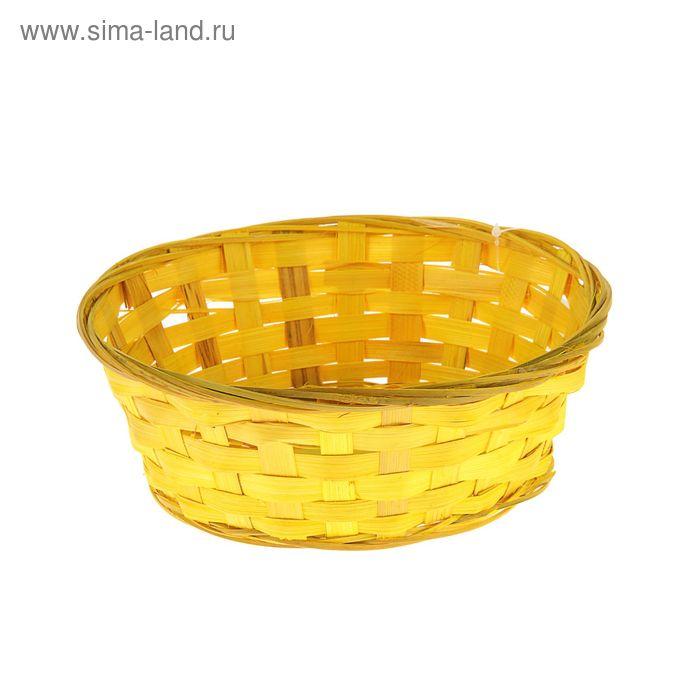 Хлебница плетёная, бамбук, желтая