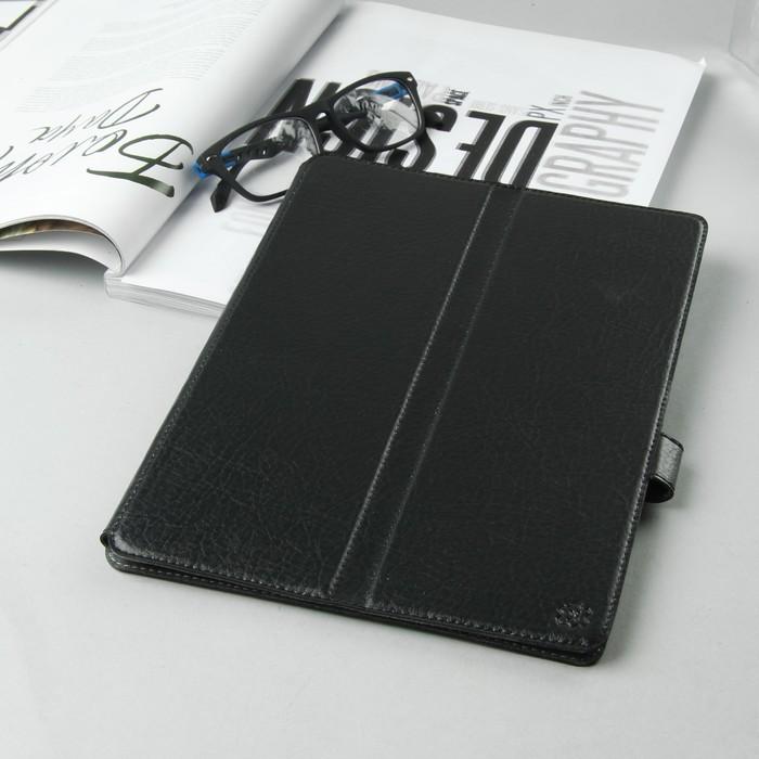 Чехол-книжка для планшета, крепление резинки, цвет чёрный