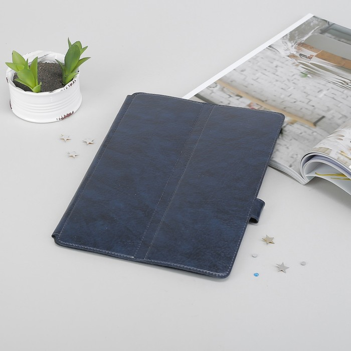 """Чехол-книжка для планшета, 10,1"""", крепление резинки, цвет синий"""