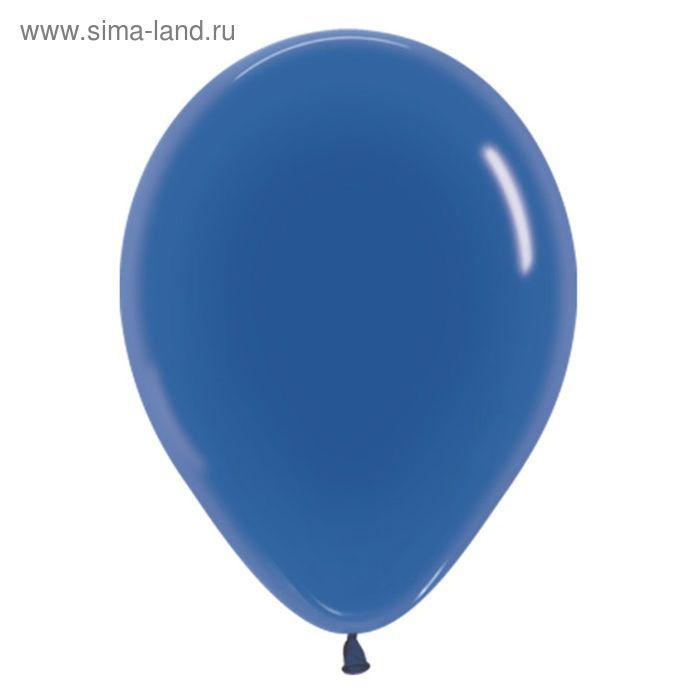 """Шар латексный 12"""", кристалл, набор 100 шт., цвет синий"""