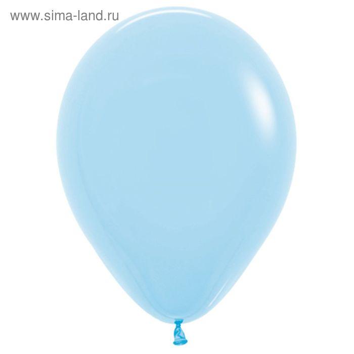 """Шар латексный 12"""", пастель, набор 100 шт., цвет светло-голубой"""