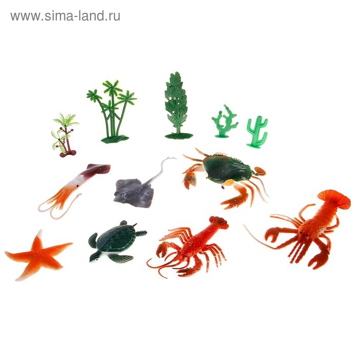 "Набор животных ""Морские жители"" с аксессуарами (набор 7 шт)"
