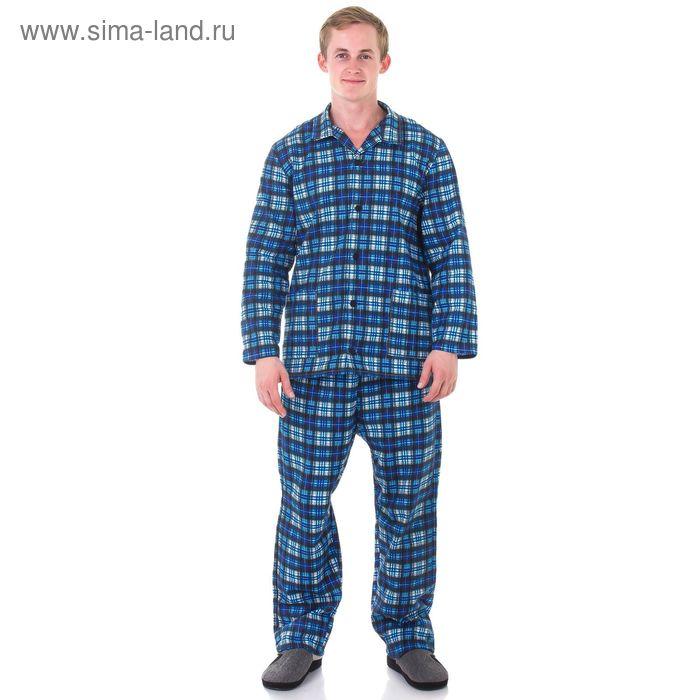 Пижама мужская Алексей МИКС, р-р 56 фланель