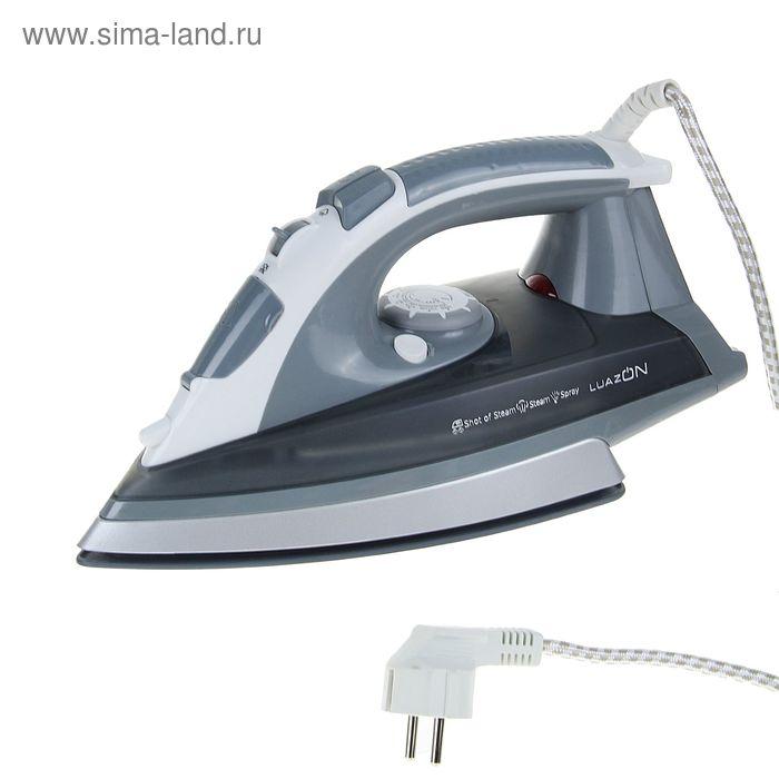 Утюг LuazON LU-08, 2200 Вт, керамическое покрытие, серый