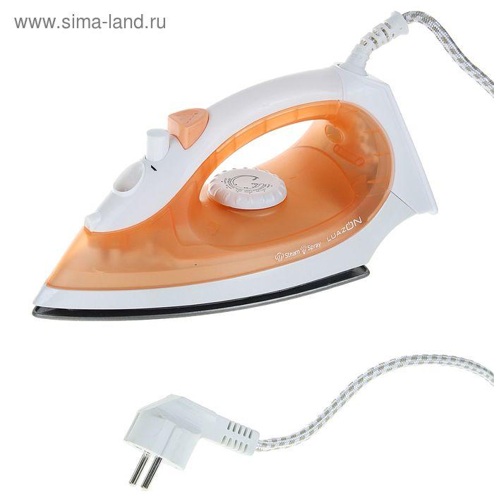Утюг LuazON LU-04, 1200Вт, тефлоновая подошва, оранжевый