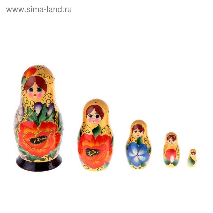 """Матрешка """"Вятка"""" золотая, 5 кукол, художественная роспись"""