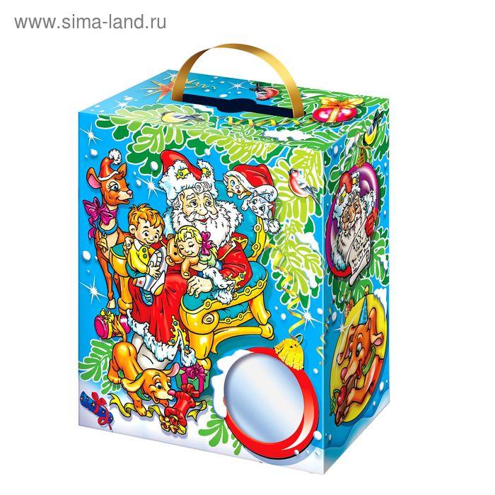 """Подарочная коробка """"Новогодние Смех-Шарики"""", боксель-моксель, сборная, 15,5 х 7,5 х 18 см"""
