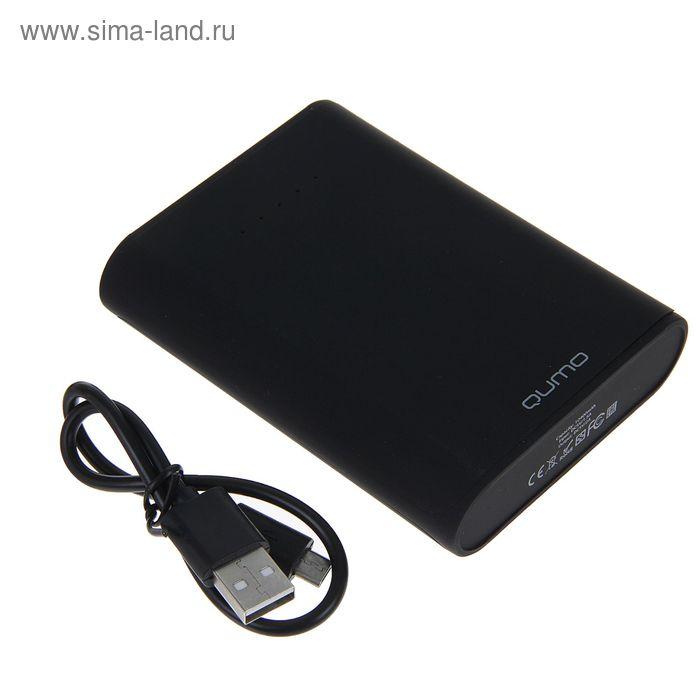Внешний аккумулятор Power bank Qumo PowerAid, 10400 mAh, 2 USB, корпус ABS пластик, чёрный