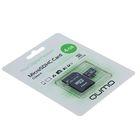 Флеш карта MicroSDHC Qumo, 4 GB, Сlass 4, с адаптером SD