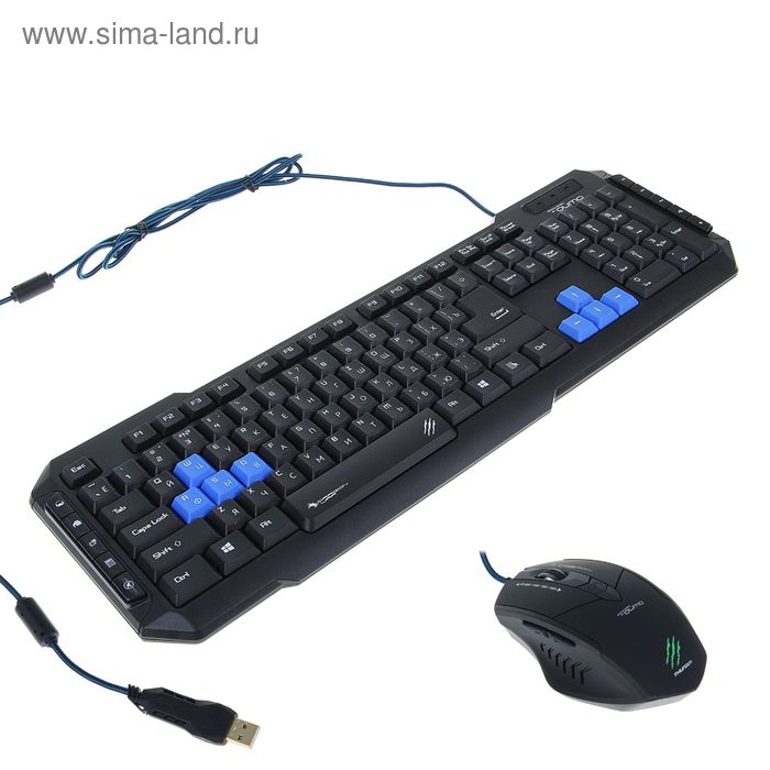 Набор игровой Qumo Dragon War Storm, клавиатура, мышь, 2 игровых коврика, USB 2.0, 2400 dpi