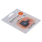 Флеш карта MicroSDHC Qumo, 8 GB, Сlass 6, с адаптером SD